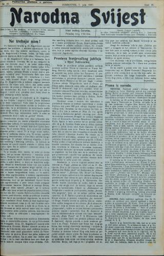 Narodna svijest, 1927/27