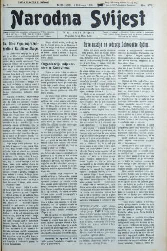 Narodna svijest, 1936/31