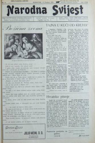 Narodna svijest, 1936/51