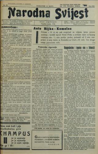 Narodna svijest, 1931/20