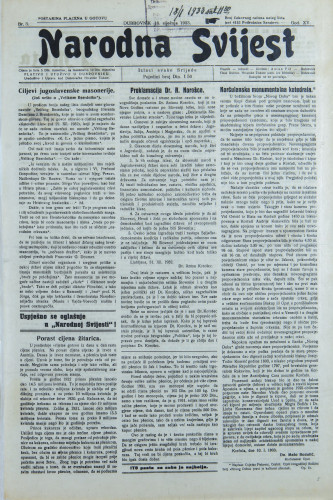 Narodna svijest, 1933/3