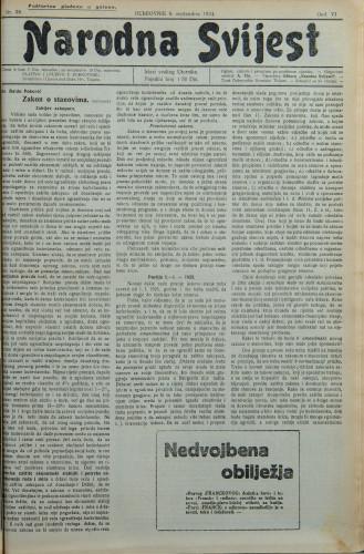Narodna svijest, 1924/38
