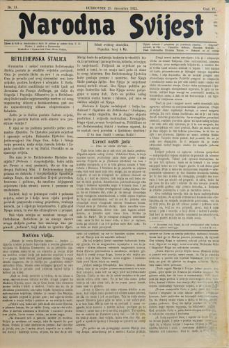 Narodna svijest, 1922/51