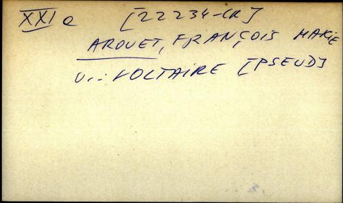 Arouet, Francois Marie - uputnica