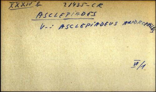 Asclepiades - uputnica