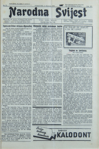 Narodna svijest, 1933/31