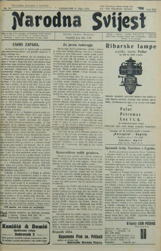 Narodna svijest, 1931/19