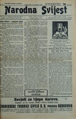 Narodna svijest, 1930/49