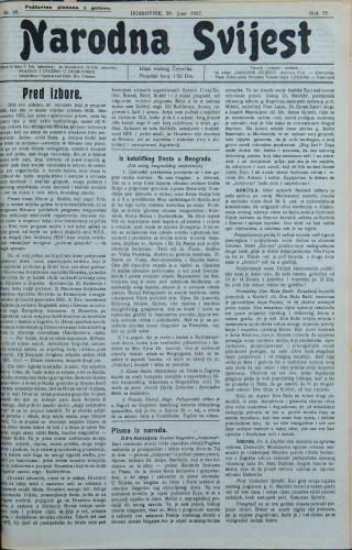 Narodna svijest, 1927/26