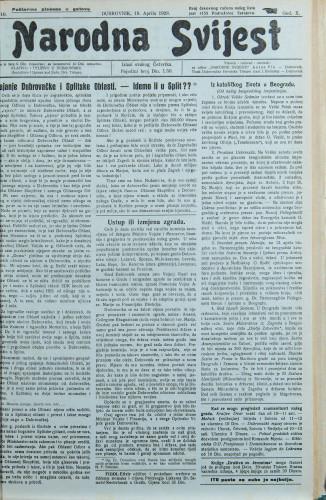 Narodna svijest, 1928/16
