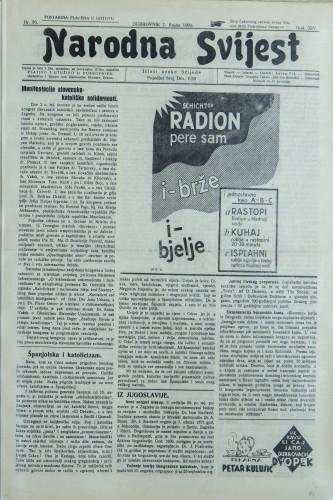 Narodna svijest, 1932/36