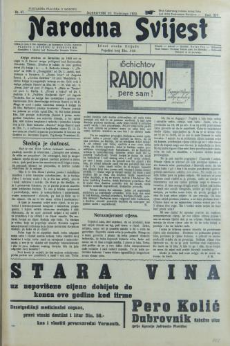 Narodna svijest, 1932/47
