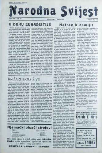 Narodna svijest, 1937/27