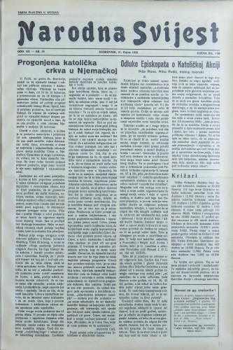 Narodna svijest, 1938/38