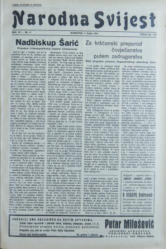 Narodna svijest, 1938/27