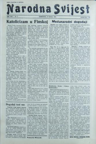 Narodna svijest, 1940/4
