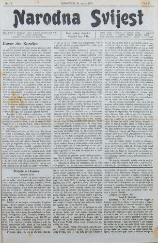 Narodna svijest, 1921/13