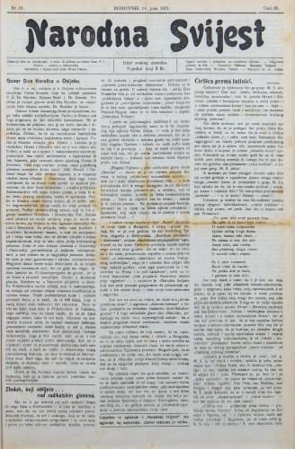 Narodna svijest, 1921/24