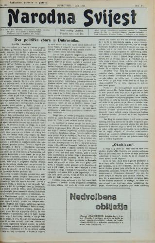 Narodna svijest, 1924/28