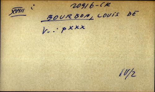 Bourbon, Louis de - uputnica