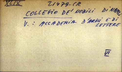 Collegio de' nobili di Napoli - uputnica