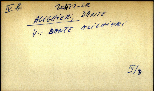 Alighieri, Dante - uputnica