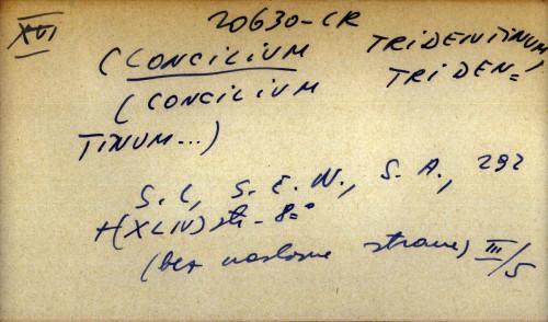 [Concilium tridentinum]