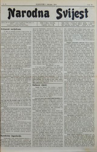 Narodna svijest, 1922/6