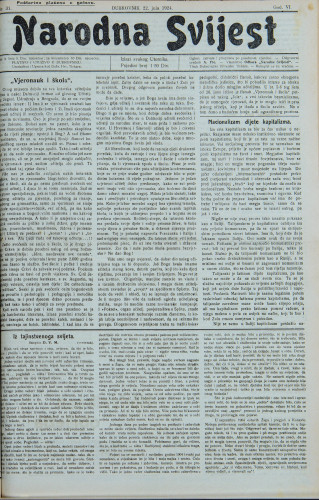 Narodna svijest, 1924/31
