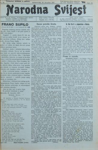 Narodna svijest, 1927/52