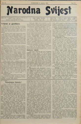 Narodna svijest, 1922/41