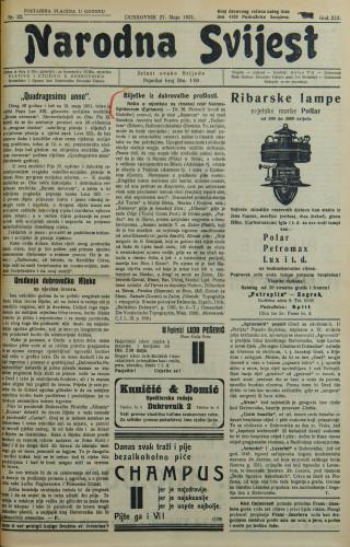 Narodna svijest, 1931/22