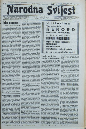 Narodna svijest, 1935/17