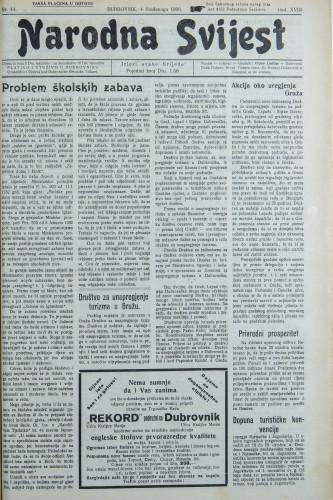 Narodna svijest, 1936/44