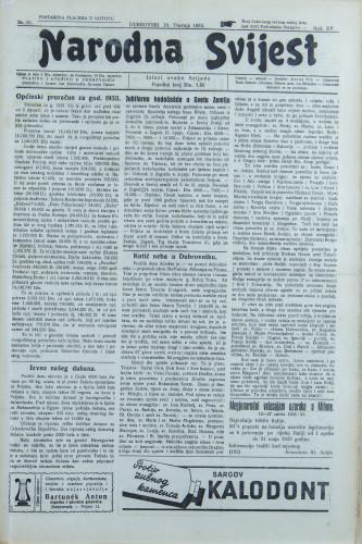 Narodna svijest, 1933/16