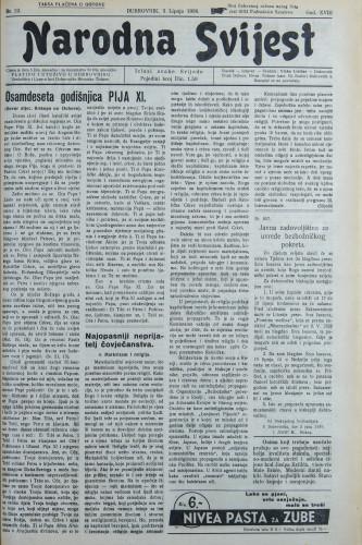 Narodna svijest, 1936/22