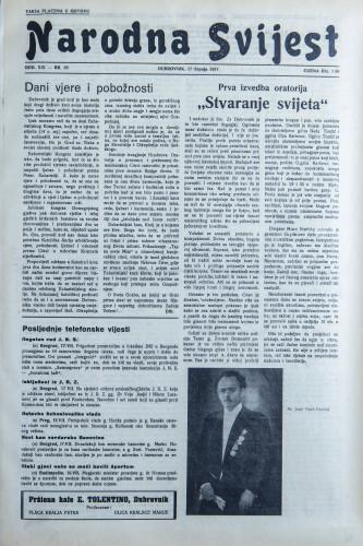 Narodna svijest, 1937/30