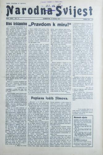 Narodna svijest, 1941/11