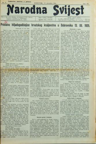 Narodna svijest, 1925/51