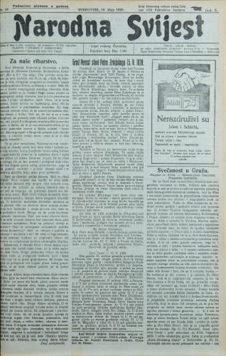 Narodna svijest, 1928/19