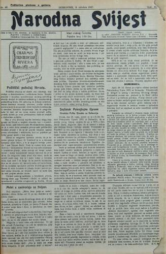 Narodna svijest, 1927/40