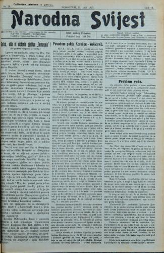 Narodna svijest, 1927/29