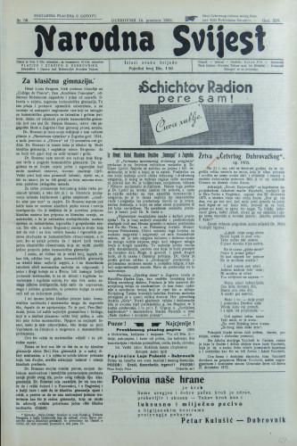 Narodna svijest, 1932/50