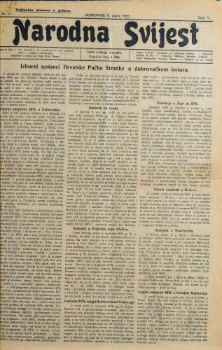 Narodna svijest, 1923/11