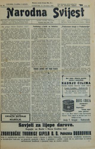 Narodna svijest, 1930/52