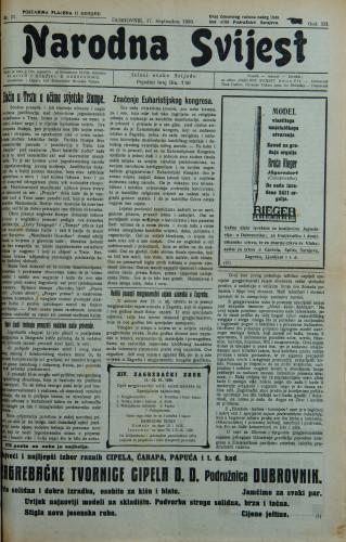 Narodna svijest, 1930/37
