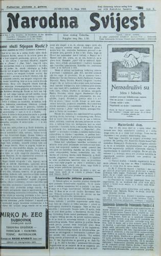 Narodna svijest, 1928/18
