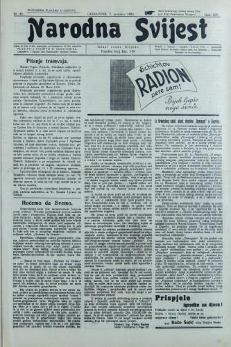 Narodna svijest, 1932/49