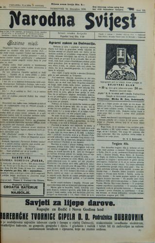 Narodna svijest, 1930/51