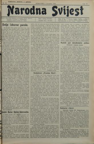 Narodna svijest, 1924/50
